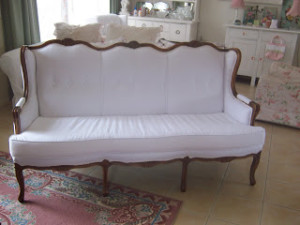 My French Couch Before & After