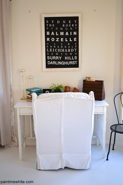 Boho Desk Paint Me White