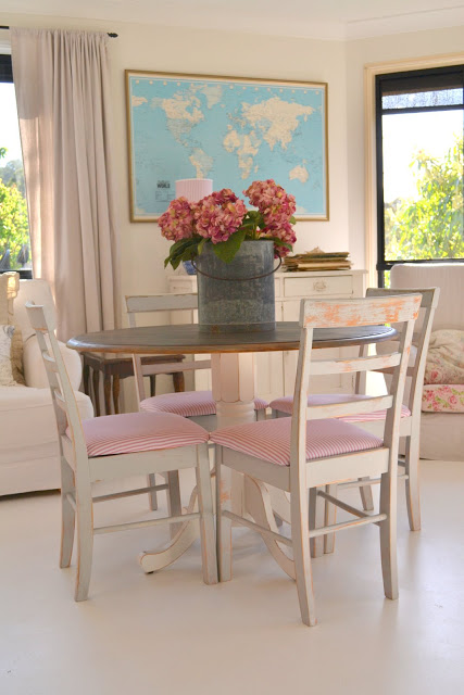 Dining Table With Pink Amp Grey Chairs Paint Me White