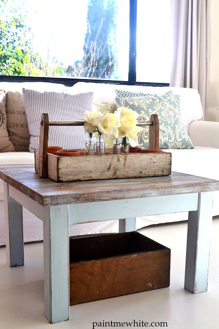 Beach House Coffee Table Paint Me White